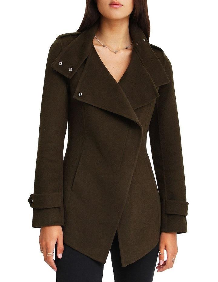 Bad Girl Wool Blend Moto Coat image 1