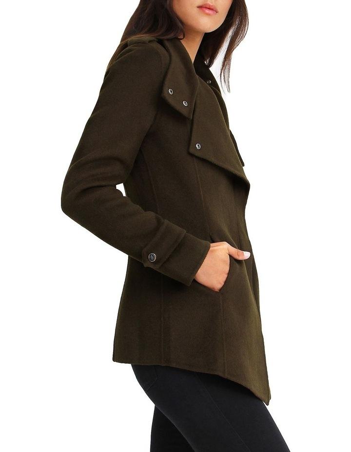 Bad Girl Wool Blend Moto Coat image 2