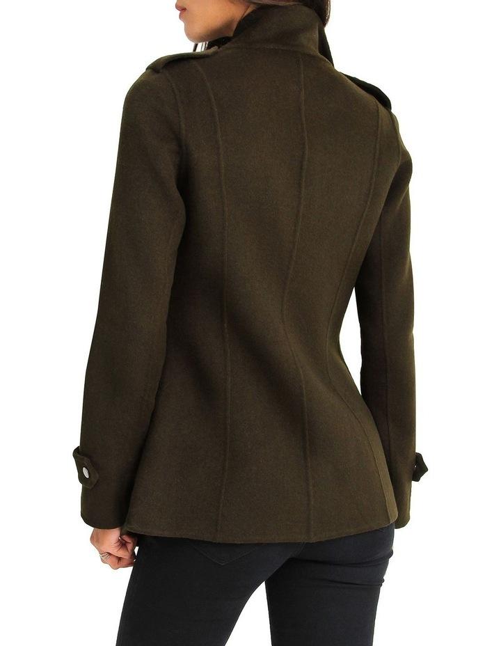 Bad Girl Wool Blend Moto Coat image 3