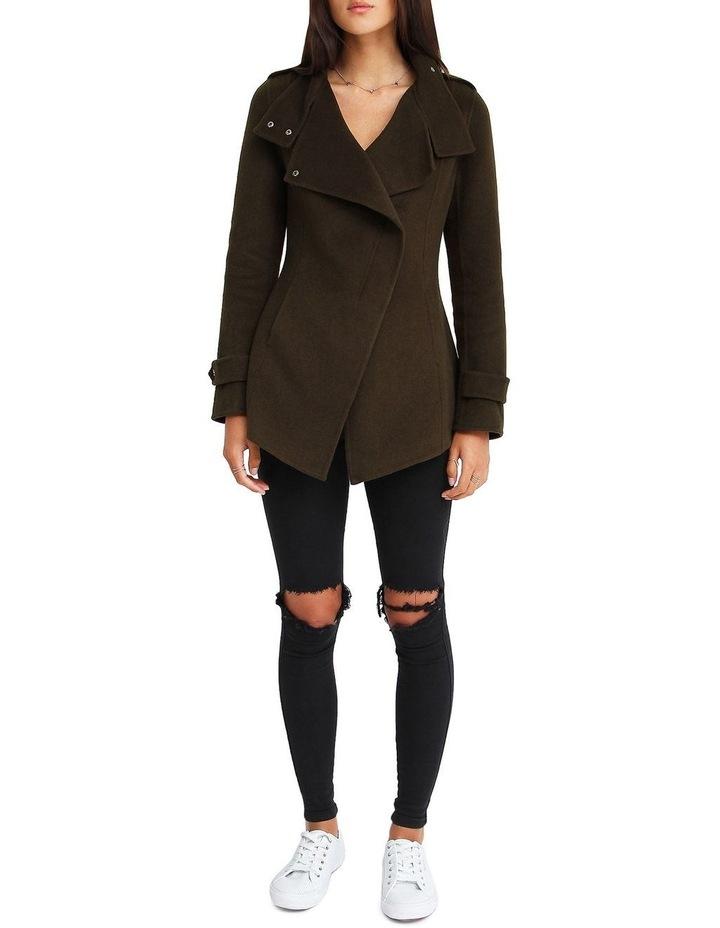 Bad Girl Wool Blend Moto Coat image 4