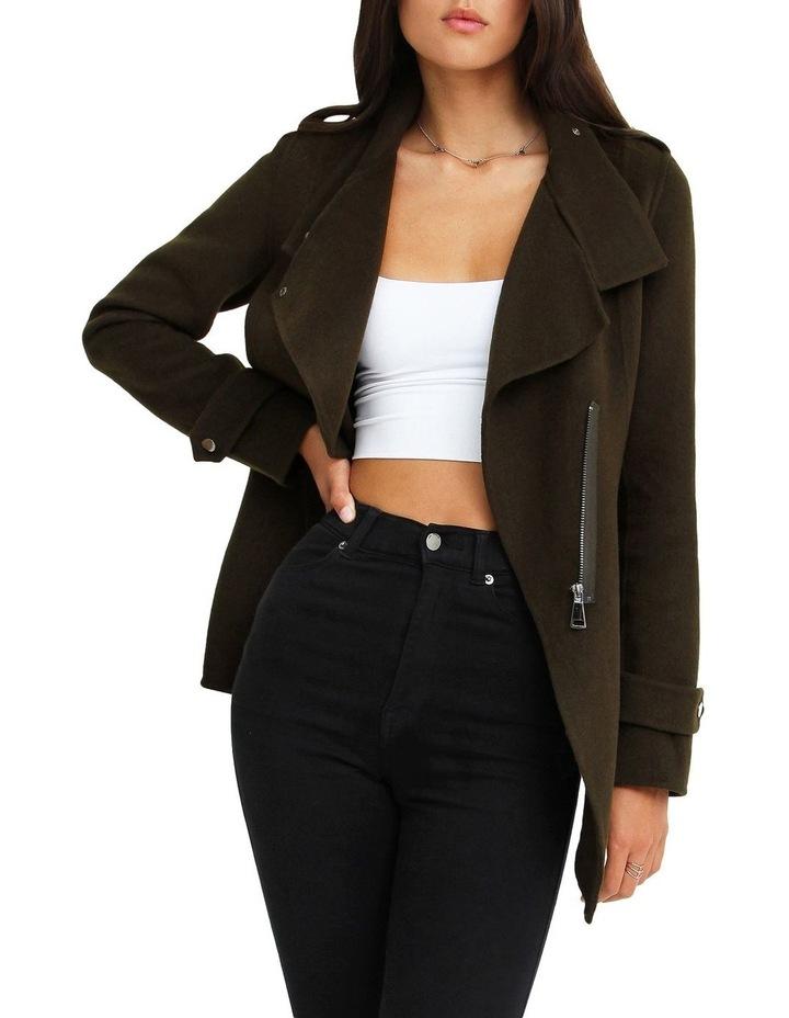 Bad Girl Wool Blend Moto Coat image 5