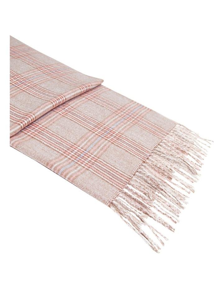 Aspen Plaid Pink Tassel Scarf image 5