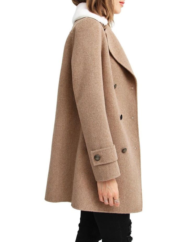 Liberty Sherpa Collar Wool Blend Coat image 2
