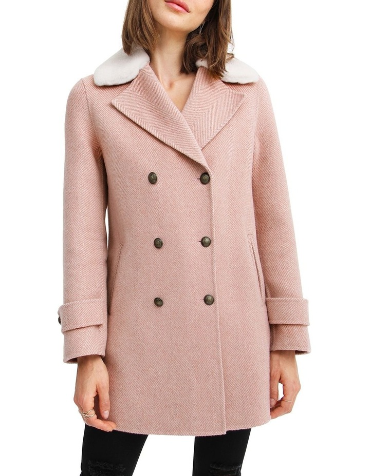 Liberty Sherpa Collar Wool Blend Coat image 1