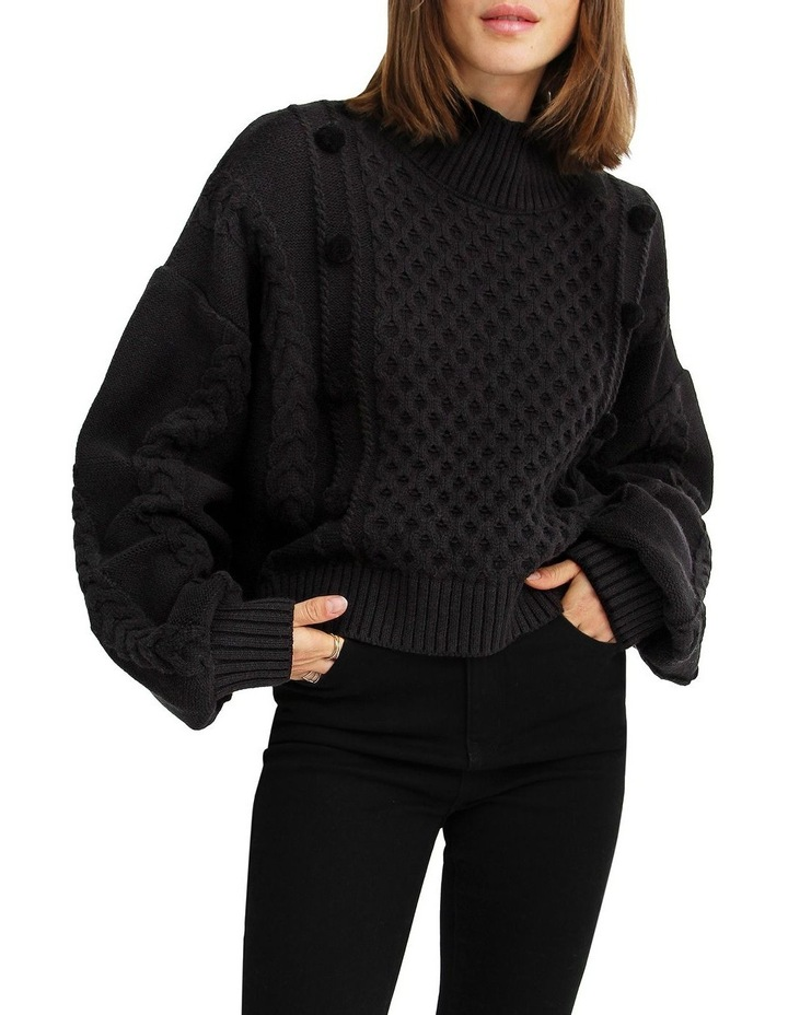 Higher Love Cropped Cable Knit Jumper image 1