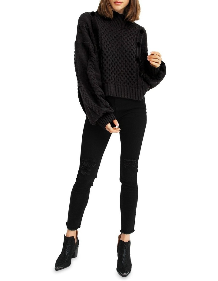 Higher Love Cropped Cable Knit Jumper image 3