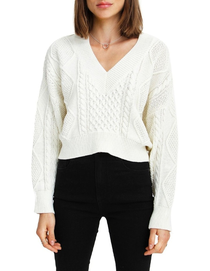 Without You Cable Knit V-neck Jumper image 1