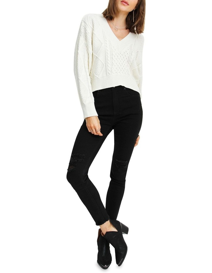 Without You Cable Knit V-neck Jumper image 4
