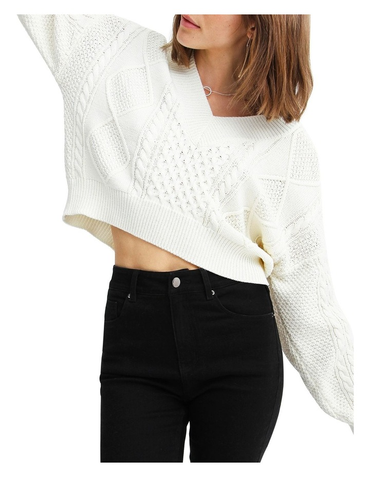 Without You Cable Knit V-neck Jumper image 5