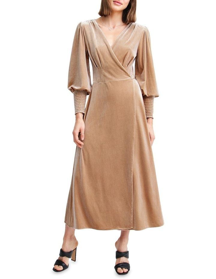Current Mood Velvet Wrap Dress image 1