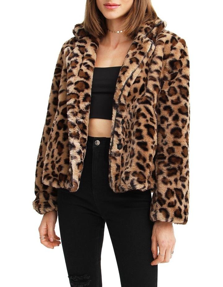 Last Call Leopard Faux Fur Jacket image 1