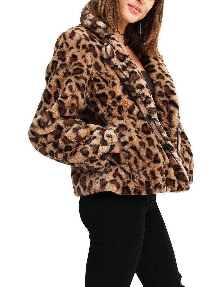 Last Call Leopard Faux Fur Jacket image 2