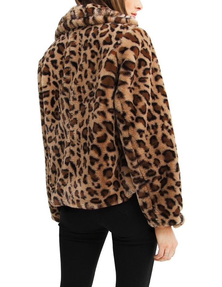 Last Call Leopard Faux Fur Jacket image 3