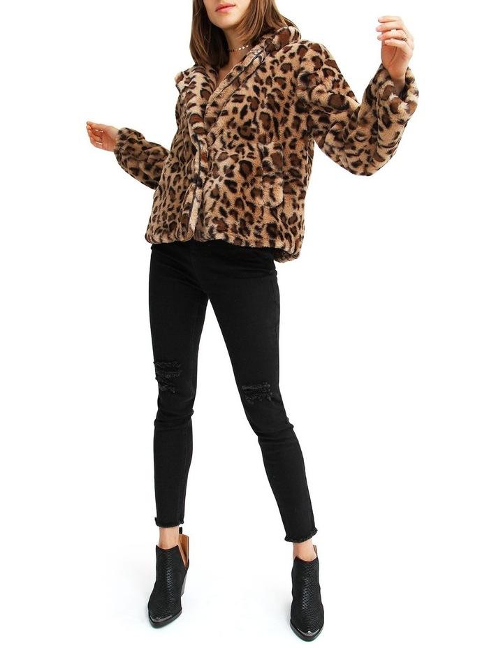 Last Call Leopard Faux Fur Jacket image 4