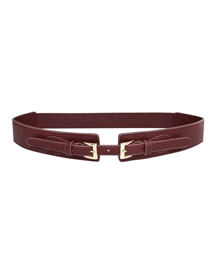 London Fog Wine Leather Belt image 2