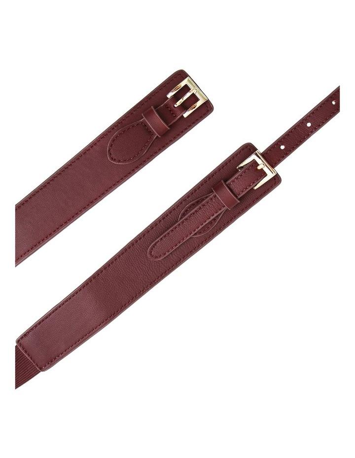 London Fog Wine Leather Belt image 4