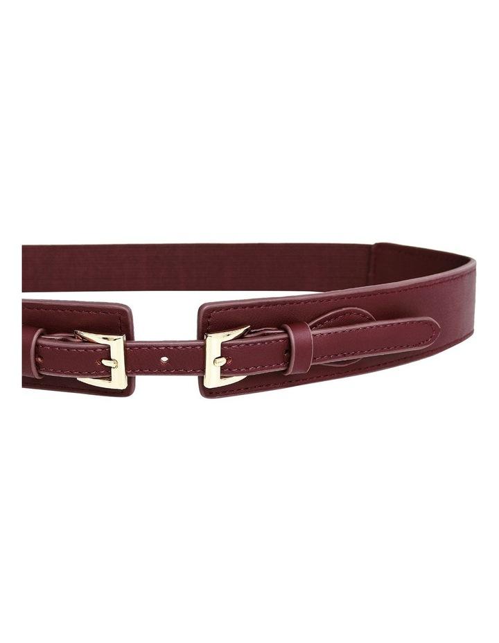 London Fog Wine Leather Belt image 5