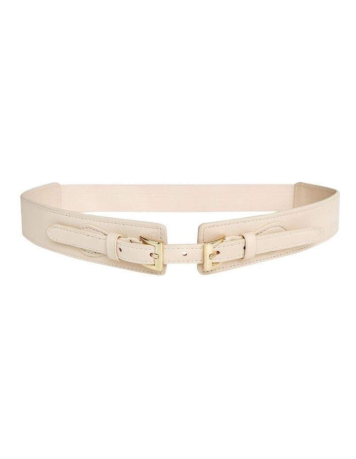 London Fog Latte Leather Belt image 2