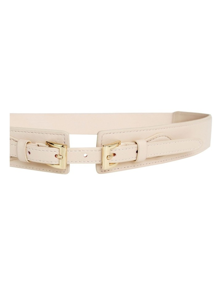 London Fog Latte Leather Belt image 5