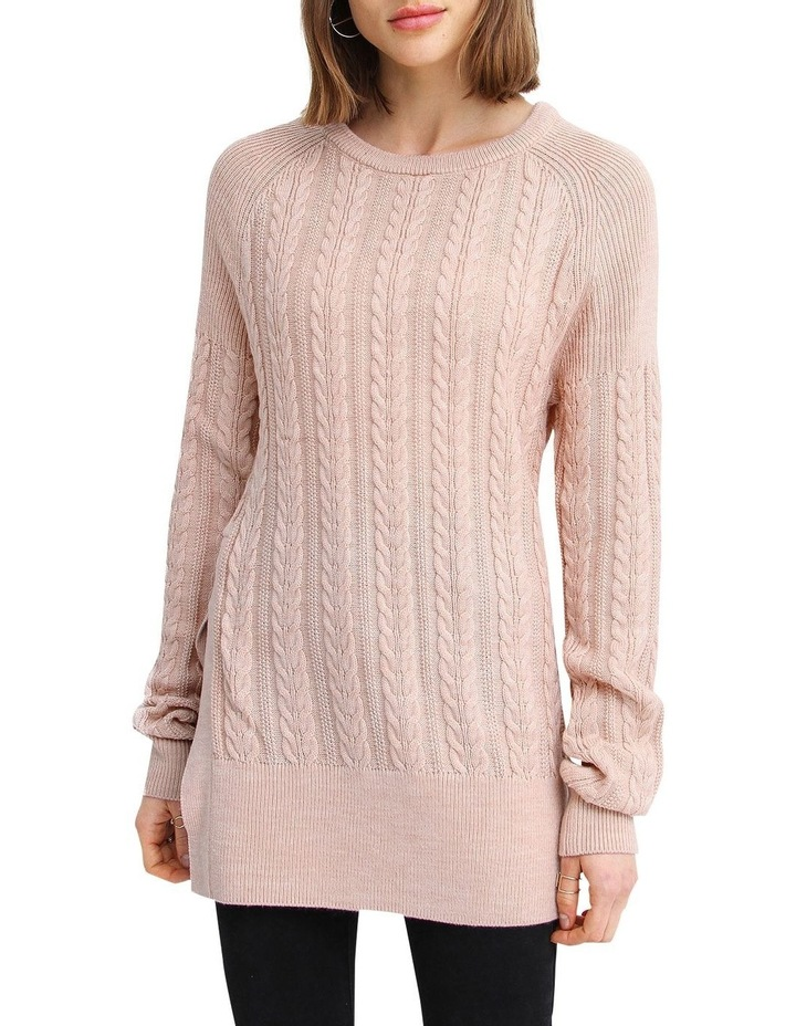 At Last Cable Knit Jumper with Slit image 1