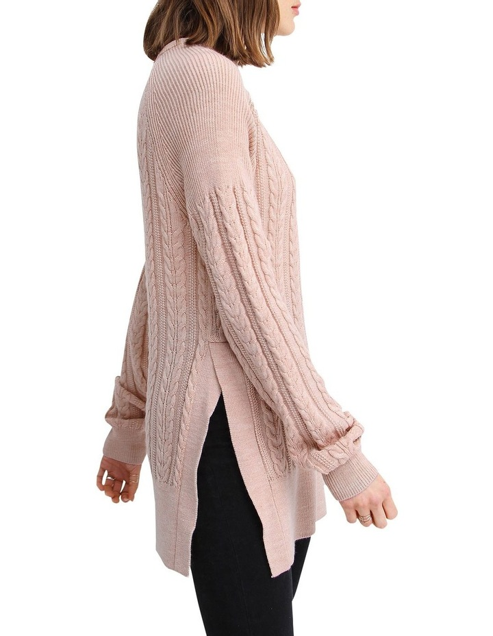 At Last Cable Knit Jumper with Slit image 2