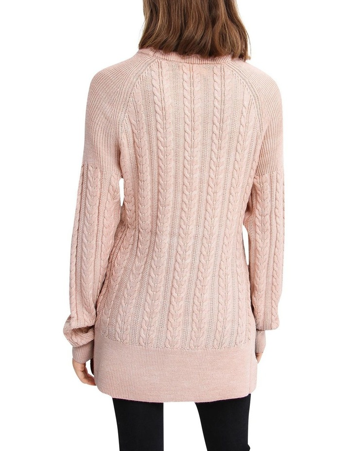 At Last Cable Knit Jumper with Slit image 3