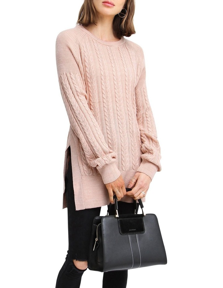 At Last Cable Knit Jumper with Slit image 5