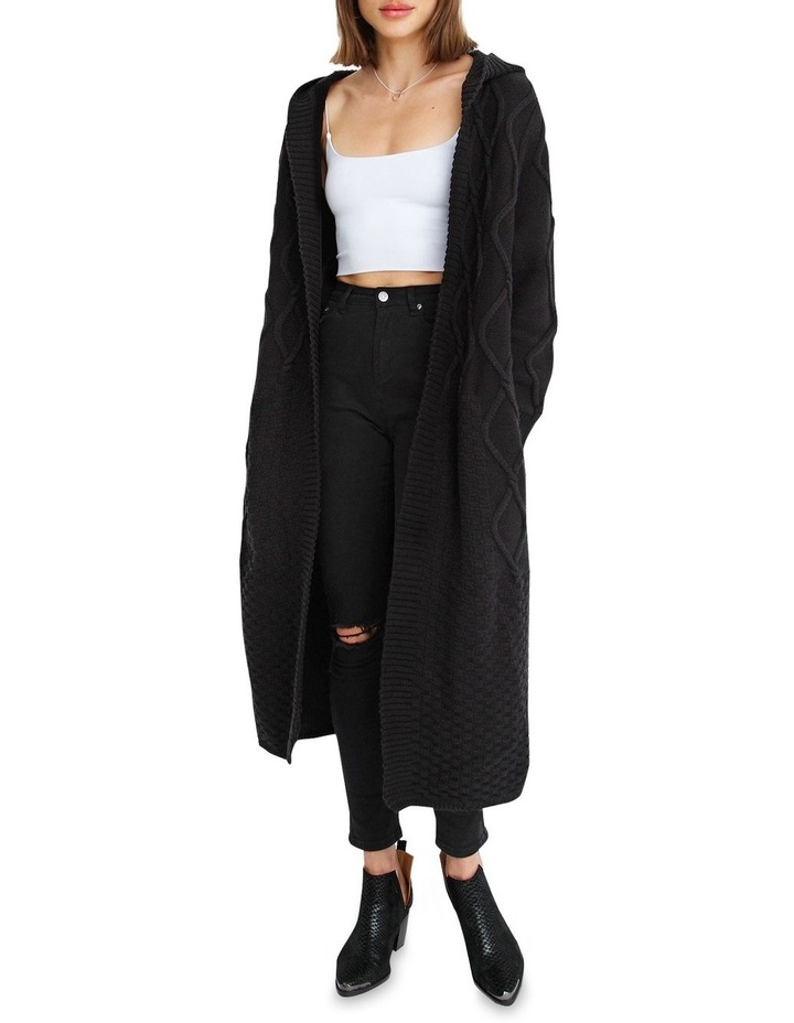 Retrograde Hooded Cable Cardigan image 1