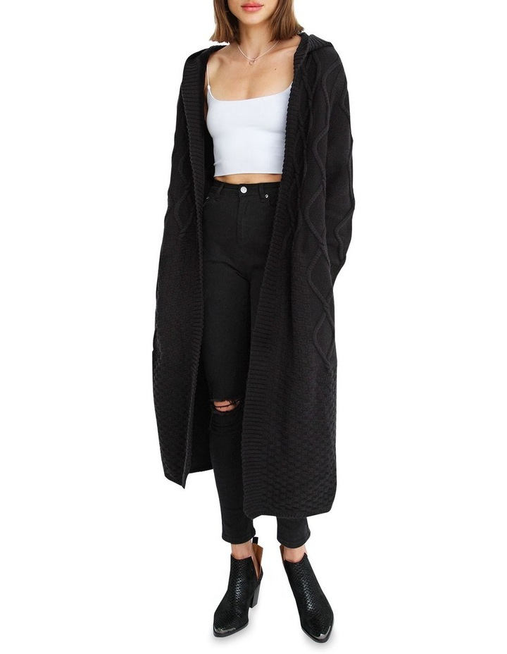 Retrograde Hooded Cable Cardigan image 4