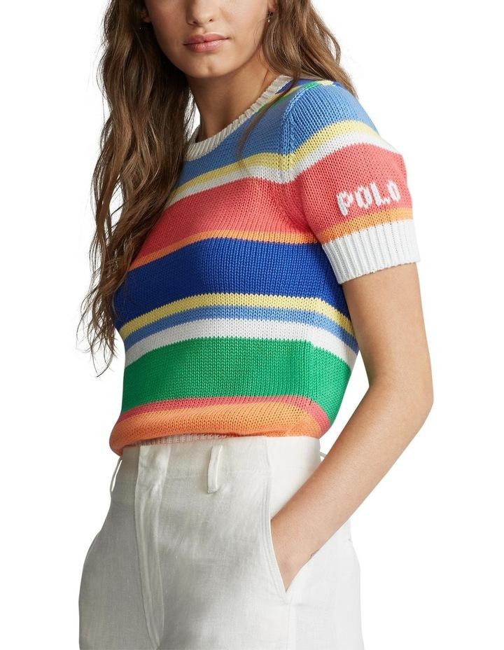 Striped Short-Sleeve Sweater image 1