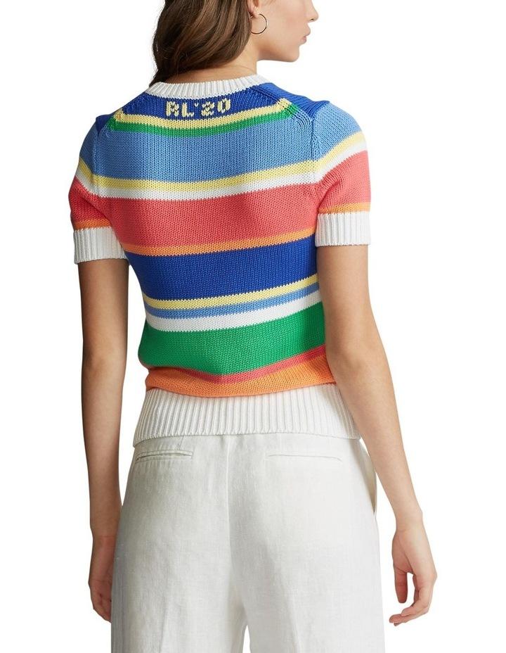 Striped Short-Sleeve Sweater image 2