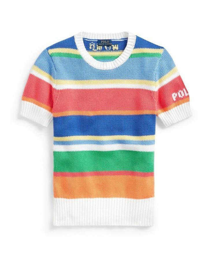 Striped Short-Sleeve Sweater image 3
