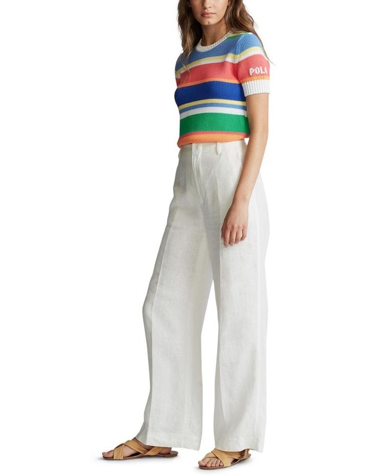 Striped Short-Sleeve Sweater image 4