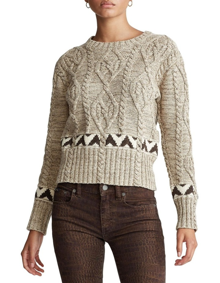 Knit Cotton-Blend Sweater image 1
