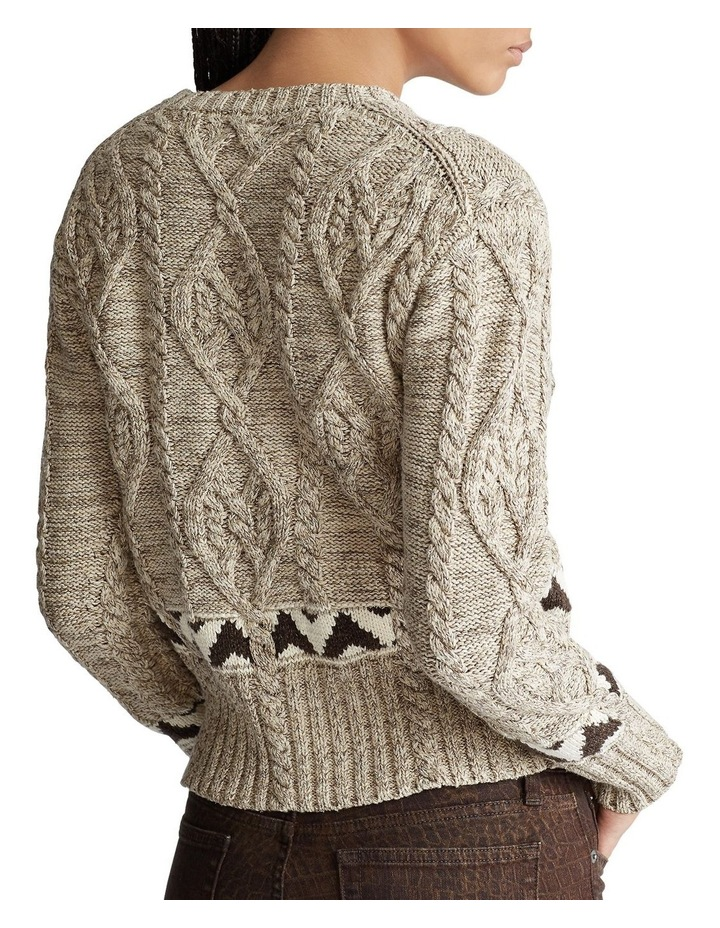 Knit Cotton-Blend Sweater image 2