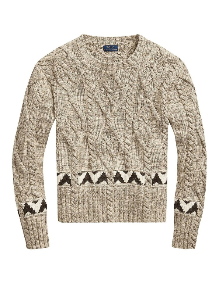 Knit Cotton-Blend Sweater image 4