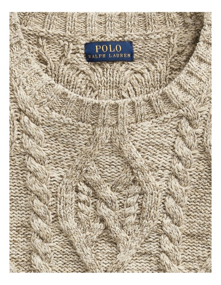 Knit Cotton-Blend Sweater image 5