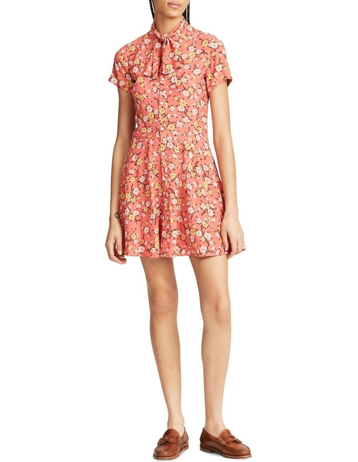 Necktie Fit-and-Flare Dress image 1