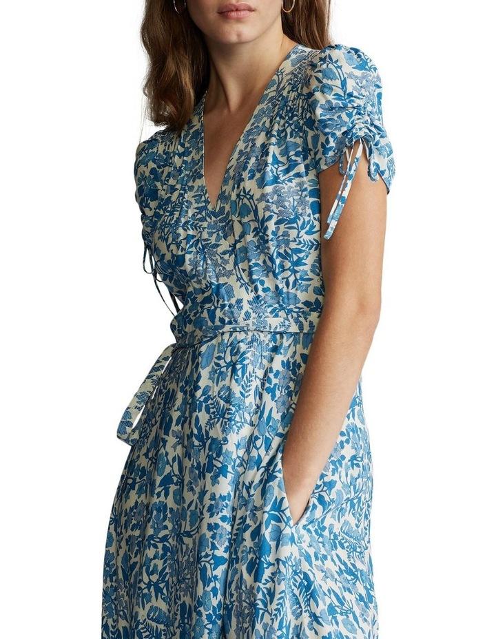 Floral Crepe Wrap Dress image 1