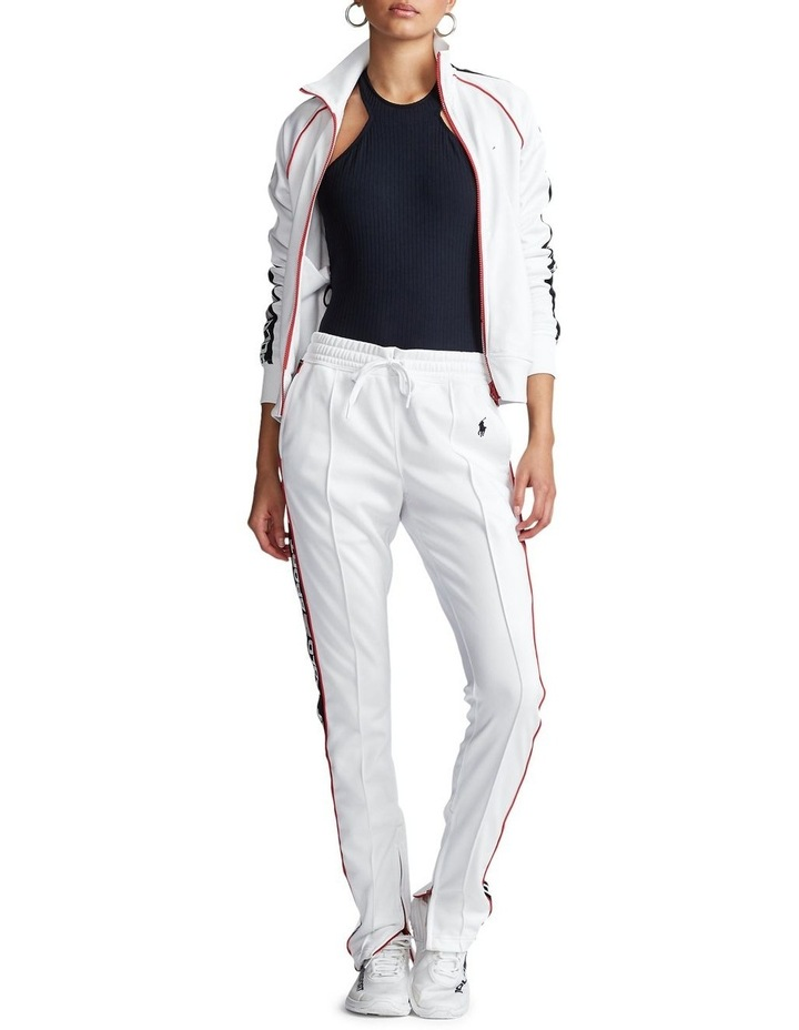 Striped-Trim Fleece Track Pant image 3
