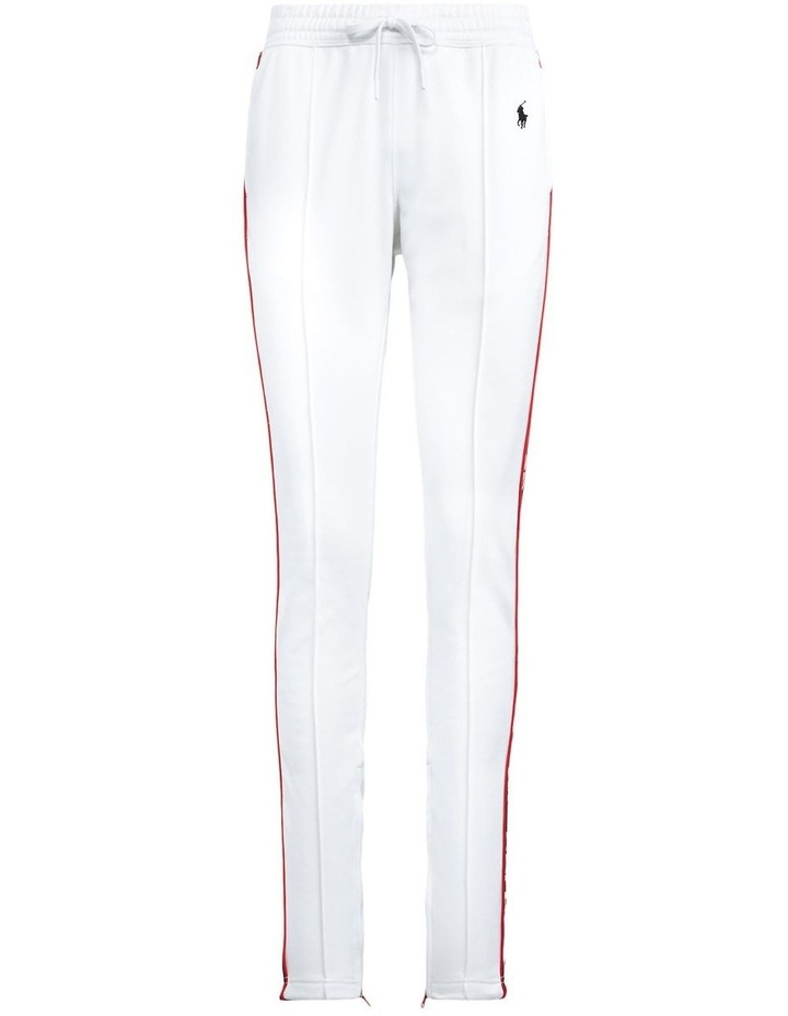 Striped-Trim Fleece Track Pant image 4