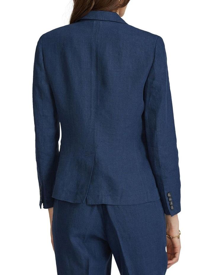 Linen Single-Button Blazer image 2