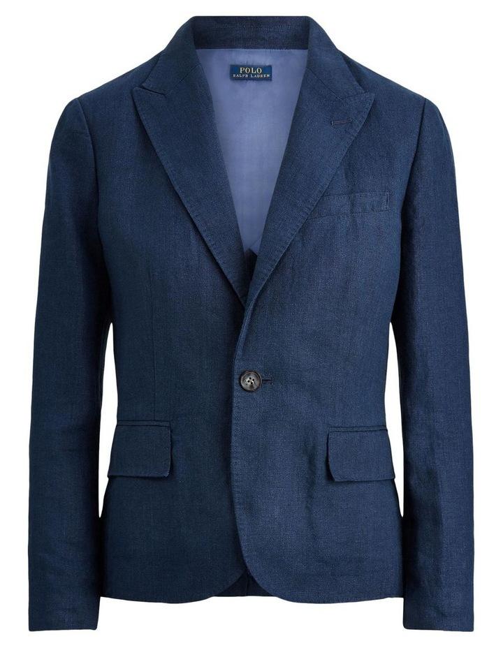 Linen Single-Button Blazer image 4