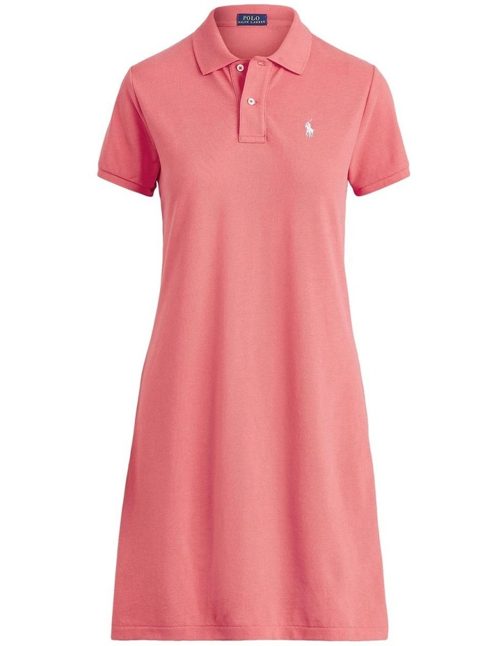 Cotton Mesh Polo Dress image 4