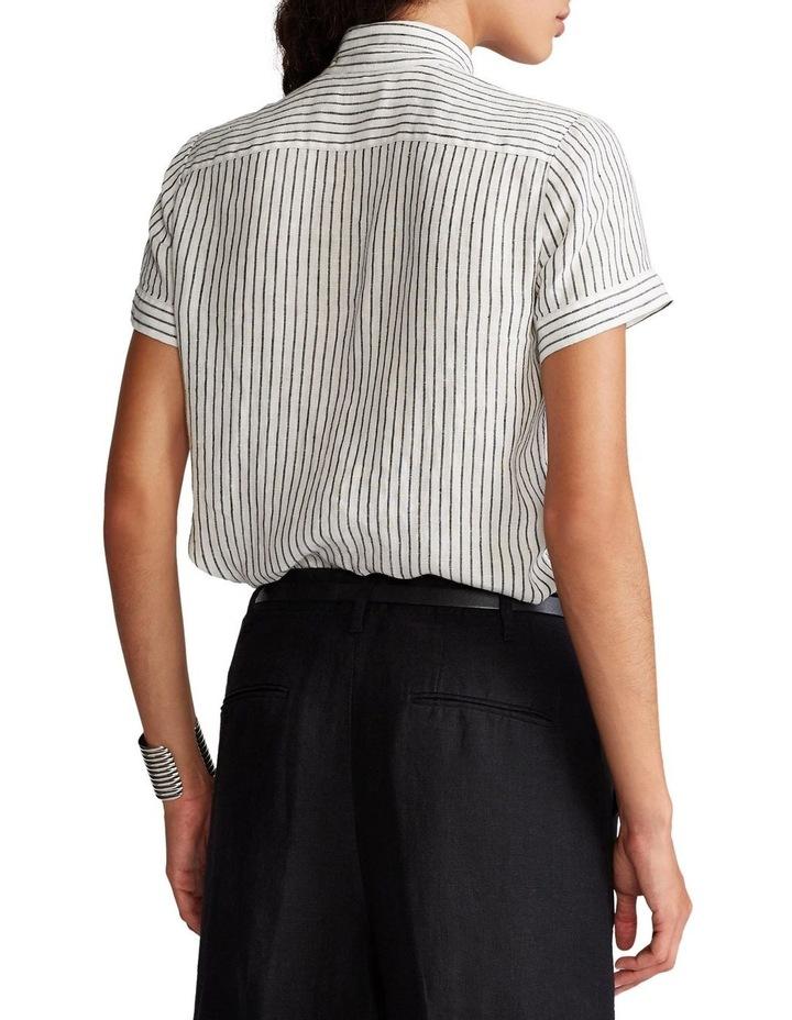 Linen Tie-Neck Shirt image 2