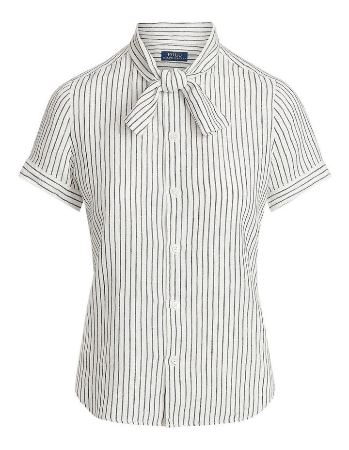Linen Tie-Neck Shirt image 4