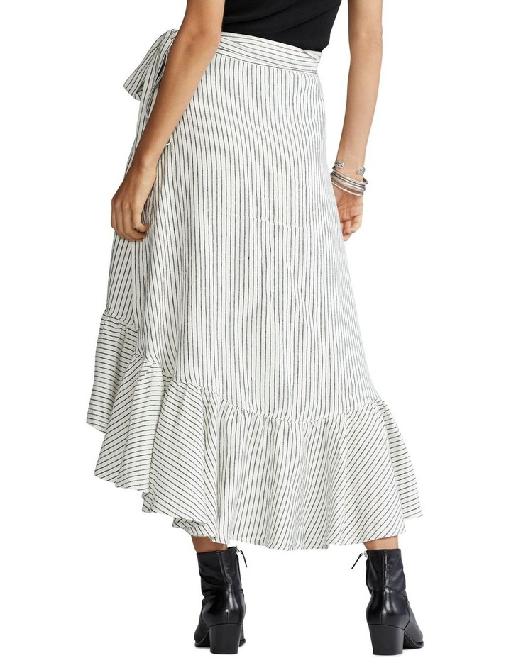 Striped Linen Wrap Skirt image 2