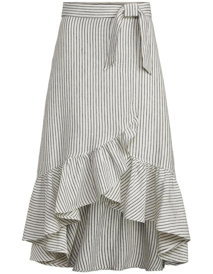 Striped Linen Wrap Skirt image 4