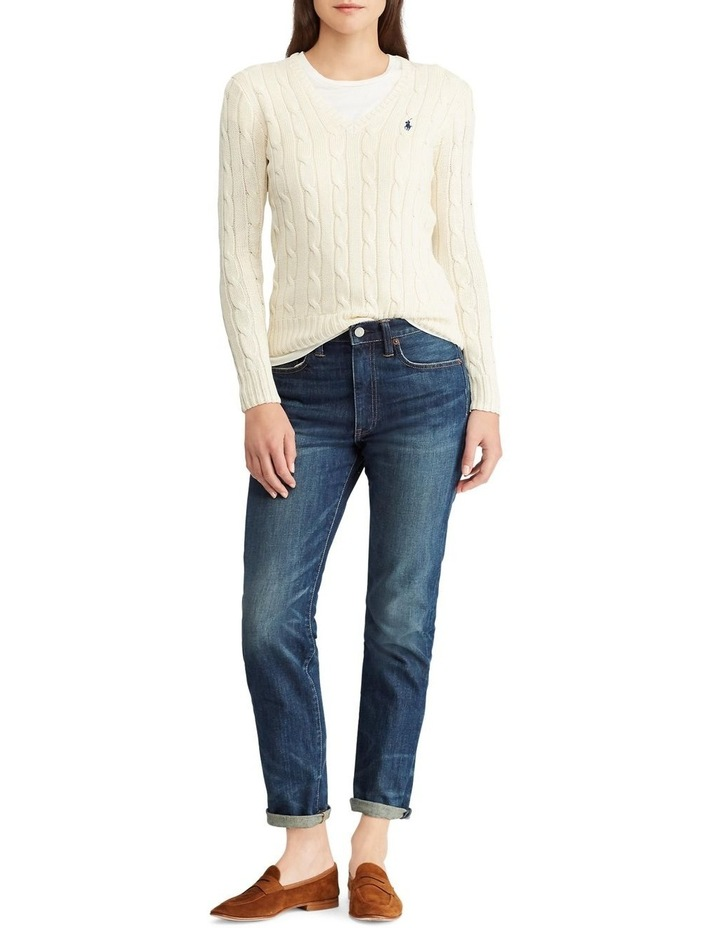 Cable-Knit V-Neck Sweater image 3