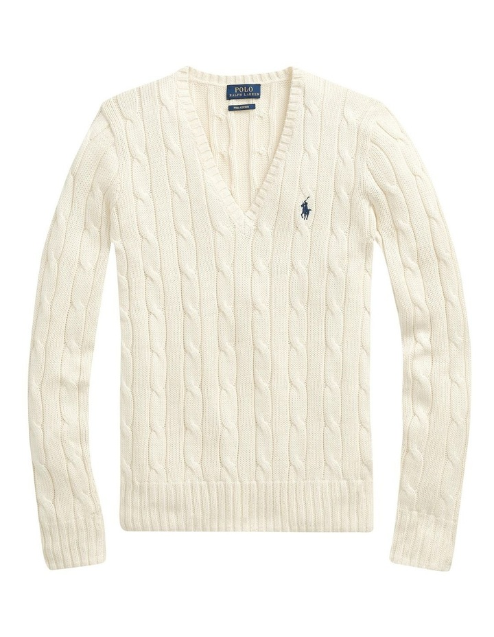 Cable-Knit V-Neck Sweater image 4